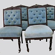 Set of four solid rosewood chairs