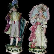 Extra Fine Pair of European Porcelain Statues