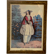 "Circa 1885 Fashion Illustration ""The Bloomer Costume"""