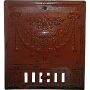 Victorian Cast Iron Fire Place Summer Cover