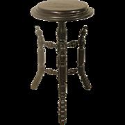 Ebonized Aesthetic Movement Pedestal Plant Stand
