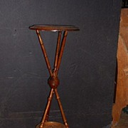 American  Aesthetic Movement walnut tri-pod plant stand
