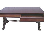 19th c English, William IV,  Library Table in Mahogany
