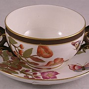 Royal Worcester Bouillon Cup & Saucer