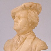 Alabaster Bust of The German Composer Wagner