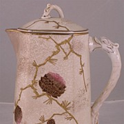 Large English Aesthetic Movement Chocolate Pot
