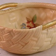 Antique Royal Worcester Woven Bowl