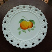 SALE Vintage Hand-Painted  Plate *Peaches