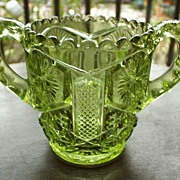 SOLD Imperial Green Glass Toothpick holder - Red Tag Sale Item