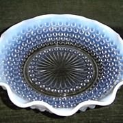 SOLD Anchor Hocking Moonstone Opalescent Crimped Bowl