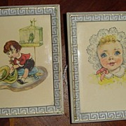 1956 Pair of Children Pictures