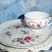 Mose Rose Pattern  Breakfast Plate