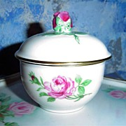 Rose Deep China Dish  with Lid