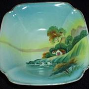 Vintage Landscape  Deep Square Bowl