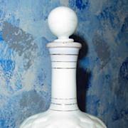 Vintage Milk Glass Perfume Bottle