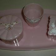 Menda Co. Pink  Vanity Set
