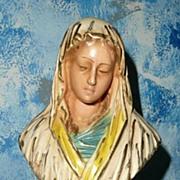 Vintage Madonna Chalk Bust