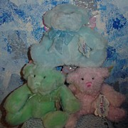 "Set of 3 Knickerbocker ""Dream Angels Collection' Bears  *Mint New & Retired"