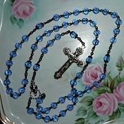 Blue Roman Catholic Rosary
