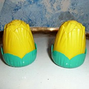 Vintage Yellow Corn Salt and Pepper Shakers
