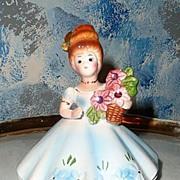 Beautiful Demoiselle like  Josef Original with Flowers
