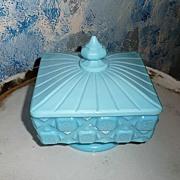 Beautiful Blue  Candy Glass Dish