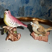 Lot of 2 Vintage Pair of Birds, one Occupied Japan