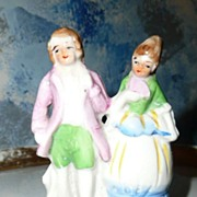 Small Pair of  Victorian Dressed Figurine