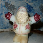 SALE Unique FENTON Hand-Painted and Signed Hugging Santa Claus