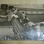 1959 Cuban Airport Exodus Black/White Picture