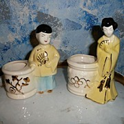 Pair of Japanese  Pottery Planters
