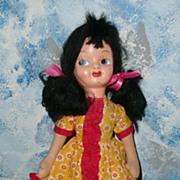 """Pretty 16""""  Black Hair  Mask Face Doll"""