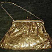 Vintage Deco Whiting & Davis Gold Mesh Purse