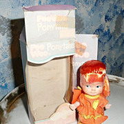 'Pee Wee Ponytails ' Red hair Doll By Uneeda *NIB