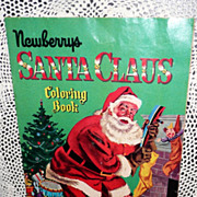 1956 NEWBURRYS  Santa Claus Coloring Book *NEW