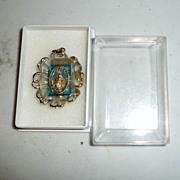 Vintage  Bakelite Miraculous Medal Pendant