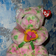 2003  TY Plush Beanie Buddy Buddies Bear  BLOOM with Tag *Retired