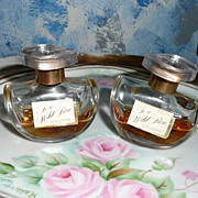 Twin  Bottles of  Avon .5 fl. oz of 'To a Wild Rose' Cologne