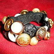 Authentic and Original 1950's Button Bracelet