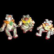 Vintage Occupied Japan Set of Frog family