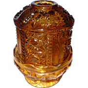 Authentic  Tiara Glass Hurricane Lamp 1970