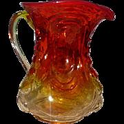 L.E. Smith Amberina Glass Pitcher