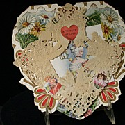 Vintage Whitney Valentine Heart C. 1920s Made in Massachusetts