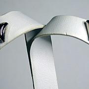 SALE Amber Triangular Post Earrings Set in Sterling Silver