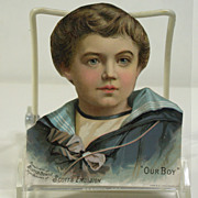 "Victorian Cutout of ""Our Boy"" Trade Card for Scott's Emulsion"
