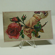 SOLD Antique Victorian Scrap Lady's Hand Holding Rose, C. 1880's