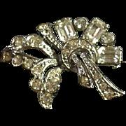Vintage Rhinestone Pin Mid-Century Style