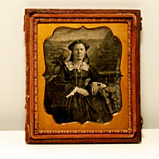 Sixth Plate Daguerreotype of Young Woman