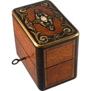Antique French Perfume Box, Inlaid Lid, Circa 1850's