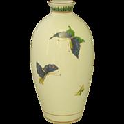 Fukagawa Arita Porcelain Vase W/Butterflies & Moths, Vintage